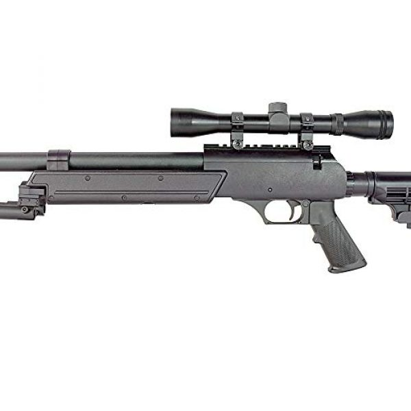 BBTac Airsoft Rifle 6 BBTac Powerful And Precision Spring Airsoft Sniper Rifle Gun, Heavy Weight with 3x Scope and Bipod