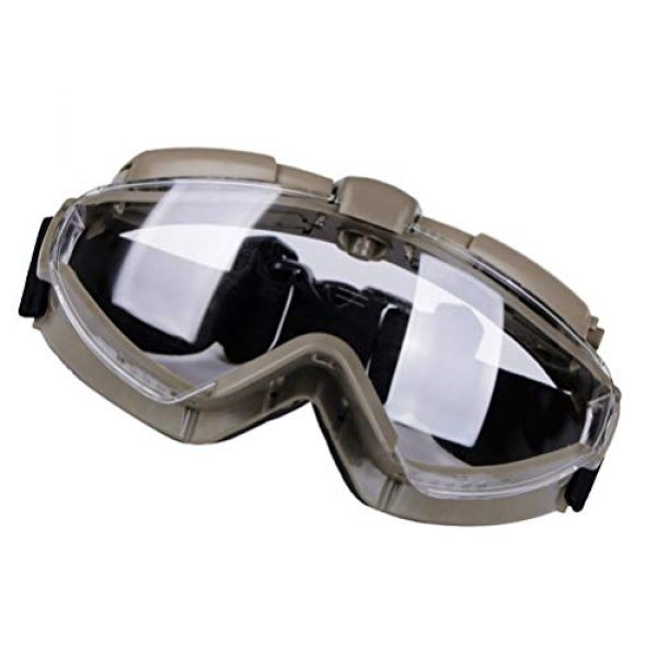 BESPORTBLE Airsoft Goggle 2 BESPORTBLE Eyewear Protective Safety Glasses Anti-Fog Anti-Spitting Anti-Saliva Goggles Eyewear Safety Glasses-Black