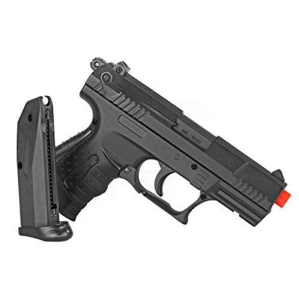 BBTac Airsoft Pistol 5 BBTac Airsoft Pistol - Metal Slide Airsoft Gun Spring Powered 240 FPS, Metal Alloy Construction (Black)