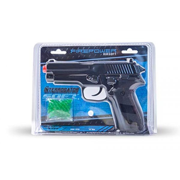 Fire Power Airsoft Pistol 3 Firepower Interrogator Spring Powered Airsoft Pistol, 260 FPS