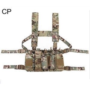 Tactical Area Airsoft Tactical Vest 1 Chest Rig Hunting Vest Molle Pouch Simple Military Tactical Vest with Pouchs