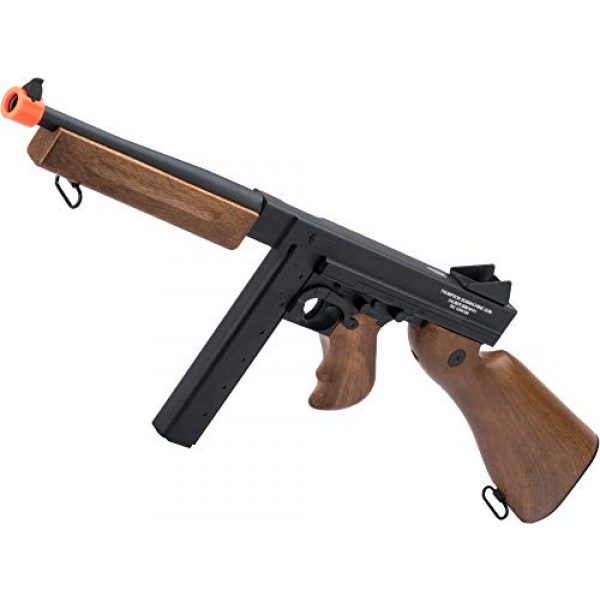 Thompson Airsoft Rifle 1 Soft Air Thompson M1A1 Electric Powered Airsoft Gun with Adjustable Hop-Up, 320-365 FPS