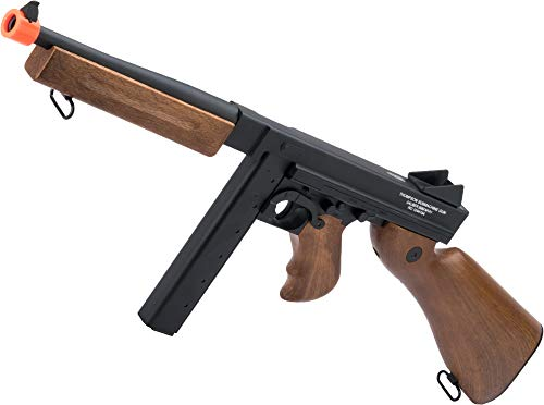 Thompson  1 Soft Air Thompson M1A1 Electric Powered Airsoft Gun with Adjustable Hop-Up