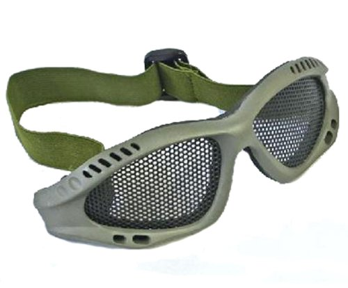 Lancer Tactical Airsoft Goggle 1 Shooting Tactical Airsoft Goggles No Fog Mesh Glasses Protect Eyes Green