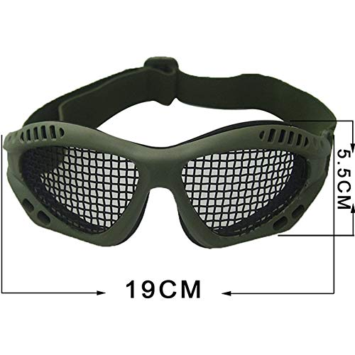 Tounlinx Airsoft Goggle 2 Tounlinx Tactical Goggles Metal Mesh Protective Airsoft Goggles with Adjustable Strap Outdoor CS Survival Game Tactical Shooting Protector Glasses Shock Resistance Cosplay Equipment