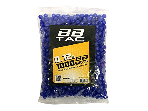 BBTac Airsoft BB 1 BBTac Airsoft BBS .12g 1000 Bag 6mm BB Ammo for Airsoft Guns