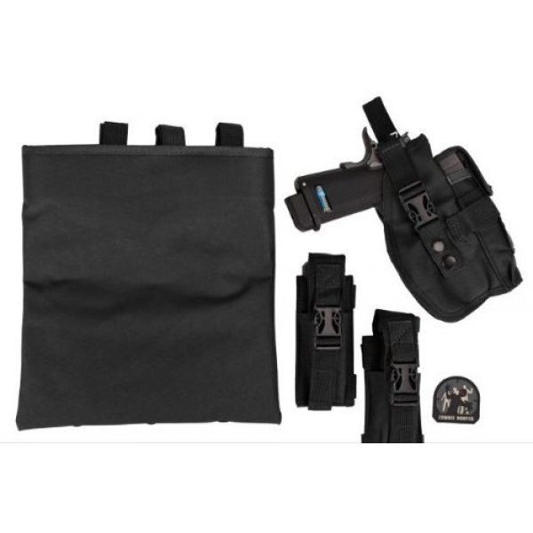 enmu pancho Airsoft Tactical Vest 2 Limited edition Airsoft Zombie Hunter Starter's Tactical Vest Package - Black