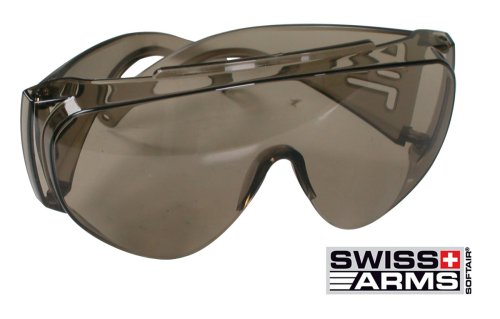 Soft Air Airsoft Goggle 1 Soft Air Swiss Arms Protective Airsoft Goggles (Clear Lenses)