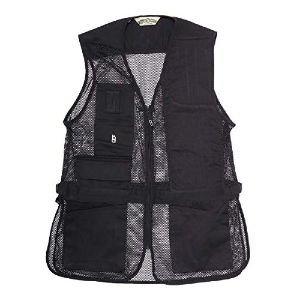 Bob-Allen Airsoft Tactical Vest 1 Bob-Allen Shooting Vest, Right Handed, Black, X-Large (40083)
