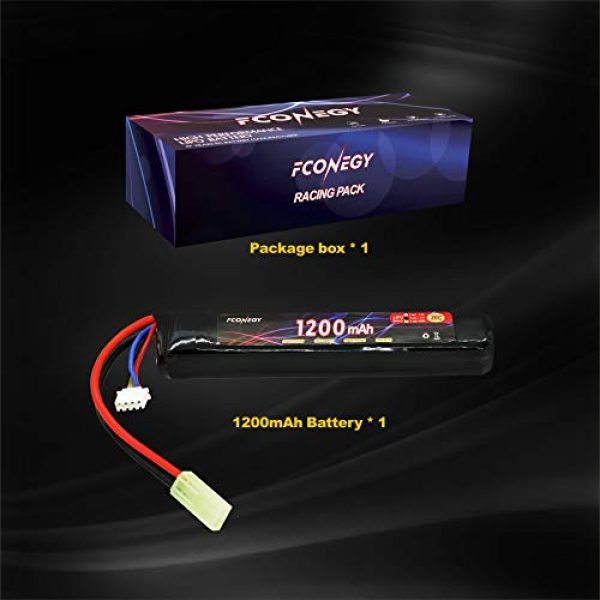 FCONEGY Airsoft Battery 7 FCONEGY 3S 11.1V 1200mAh 20C Lipo Battery Pack with Small Tamiya Plug for Airsoft Gun/Rifle