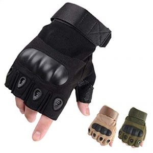 LYGLO Airsoft Glove 1 LYGLO Mens Half Finger Gloves Army Military Fingerless Combat Outdoor Cycling Tactical Gloves