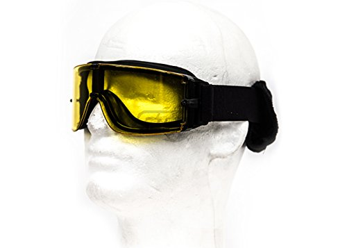 Lancer Tactical Airsoft Goggle 1 Lancer Tactical CA-234Y Airsoft Safety Goggles - Framless/Yellow Lens