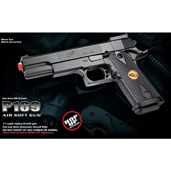 Double Eagle Airsoft Pistol 5 Double Eagle A&N 275FPS P169 1911 Airsoft Hand Gun Full Size Spring Pistol w 6mm BBS BB Fantastic Starter Airsoft Pistol Government .45