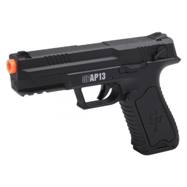 Game Face Airsoft Pistol 1 GameFace GFAP13 AEG Electric Full/Semi-Auto Airsoft Pistol With Battery Charger, Speed Loader And Ammo, Black