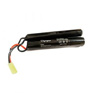 Olympia Battery Airsoft Battery 1 Battery for M4A1 Airsoft Guns - 9.6V 1600mAh Butterfly Nunchuck Stick Mini Battery Pack w/Mini Tamiya Connector