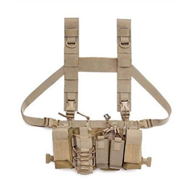 Vioaplem Airsoft Tactical Vest 1 Vioaplem Multicam Tactical Molle Vest Ammo Chest Rig Removable Hunting Airsoft Paintball Gear Vest with AK 47/74 Magazine Pouch