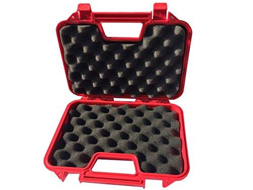 SRC Airsoft Gun Case 3 SRC Red Premium Quality Padded Foam Durable Plastic Pistol Gun Case