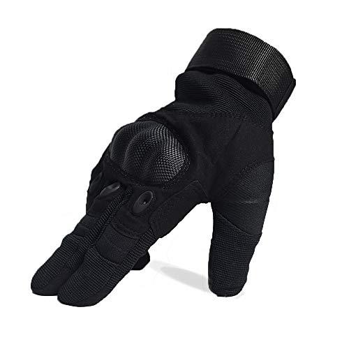 DKMOTORK Airsoft Glove 3 DKMOTORK 007 Airsoft Work Motorcycle Full Finger Gloves for Men Women Hunting Fishing Ski Winter Outdoor Sport Medium