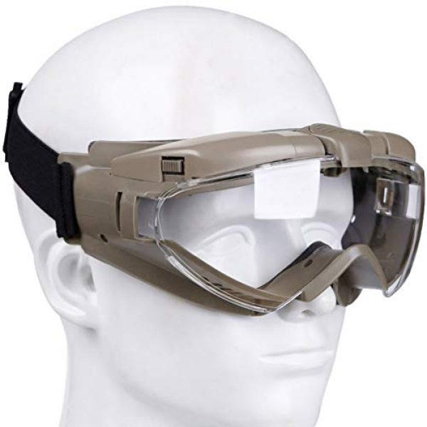 BESPORTBLE Airsoft Goggle 4 BESPORTBLE Eyewear Protective Safety Glasses Anti-Fog Anti-Spitting Anti-Saliva Goggles Eyewear Safety Glasses-Black