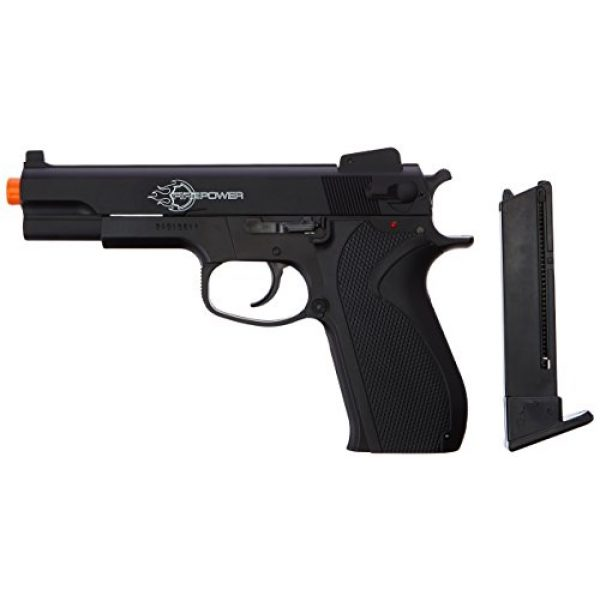 Fire Power Airsoft Pistol 1 Firepower .45 Metal Slide Spring Powered Airsoft Pistol with Hop-Up, 325 FPS