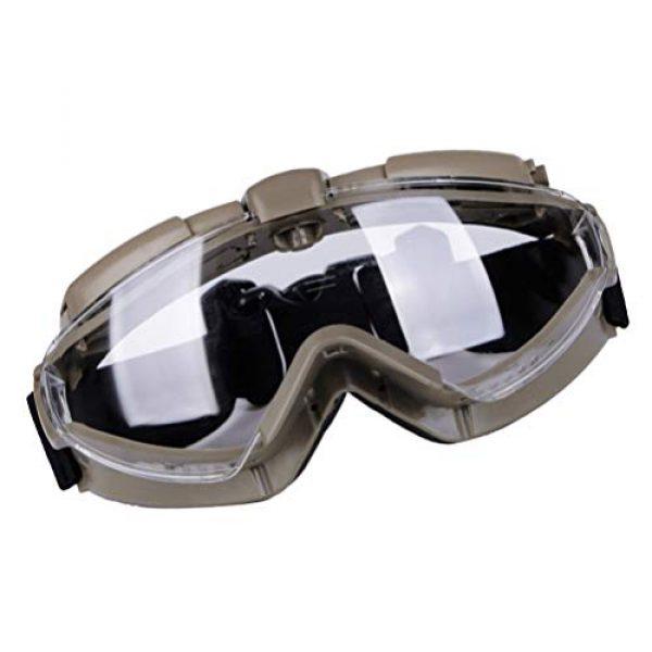 BESPORTBLE Airsoft Goggle 3 BESPORTBLE Eyewear Protective Safety Glasses Anti-Fog Anti-Spitting Anti-Saliva Goggles Eyewear Safety Glasses-Black