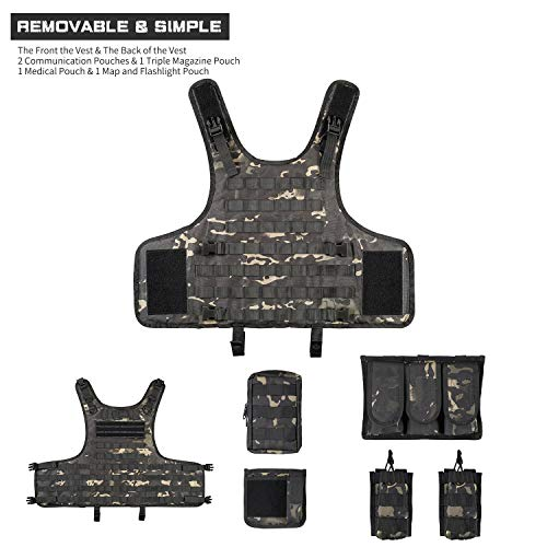GZ XINXING Airsoft Tactical Vest 5 GZ XINXING Tactical Airsoft Paintball Vest