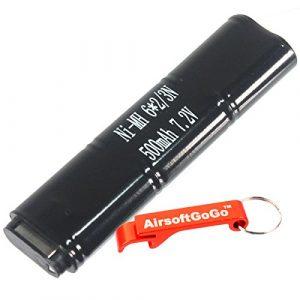 AirsoftGoGo Airsoft Battery 1 CYMA 7.2V 500mAh Ni-MH Micro Battery for CM030 CM121 CM122 CM123 Marui 18C
