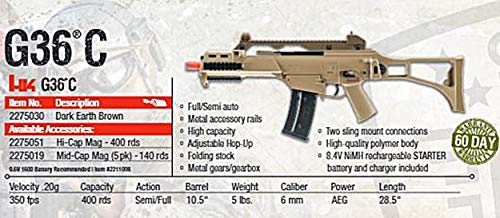 Elite Force Airsoft Rifle 5 Elite Force HK Heckler & Koch G36 C AEG Automatic