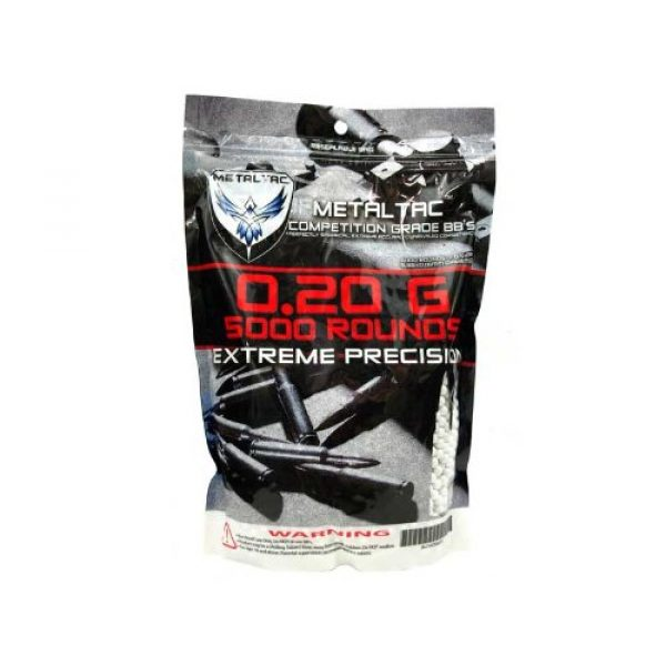 MetalTac Airsoft BB 2 MetalTac Airsoft BBS .20g 10,000 Rounds 6mm for Airsoft Guns AEG Perfect Grade Percision Accurate Seamless BB Pellets