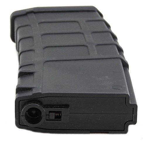 LONEX  4 Lonex Airsoft M Series Scar Plastic Black PMAG Magazine 200 RDS ASG MID Cap