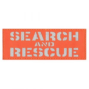 Tactical Freaky  1 High Visibility 3x8 SAR Search and Rescue Blaze Orange 3M Solas Honeycomb Hi Viz Plate Carrier Tactical Fastener Patch