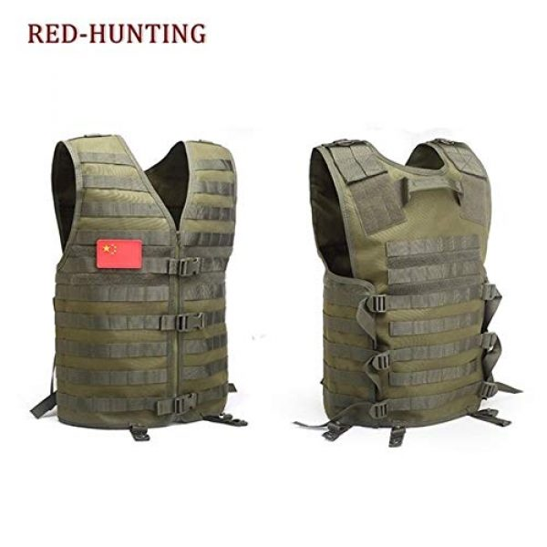 Shefure Airsoft Tactical Vest 4 Shefure Men's Molle Tactical Vest Hunting Gear Load Carrier Vest Sport Safety Vest Hunting Fishing with Hydration System