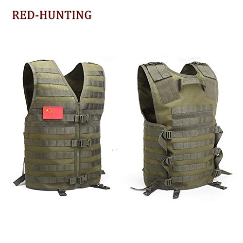 Shefure  4 Shefure Men's Molle Tactical Vest Hunting Gear Load Carrier Vest Sport Safety Vest Hunting Fishing with Hydration System