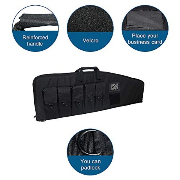 Fox Tactical Airsoft Gun Case 5 Fox Tactical 38 42 Inch Tactical Rifle Case Rifle Bag Long Single Gun Case,with Water Dust Resistant for Hunting Shooting Storage Transport