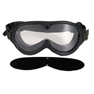 Rothco Airsoft Goggle 1 Black GI Military Style Sun-Wind-Dust Goggles