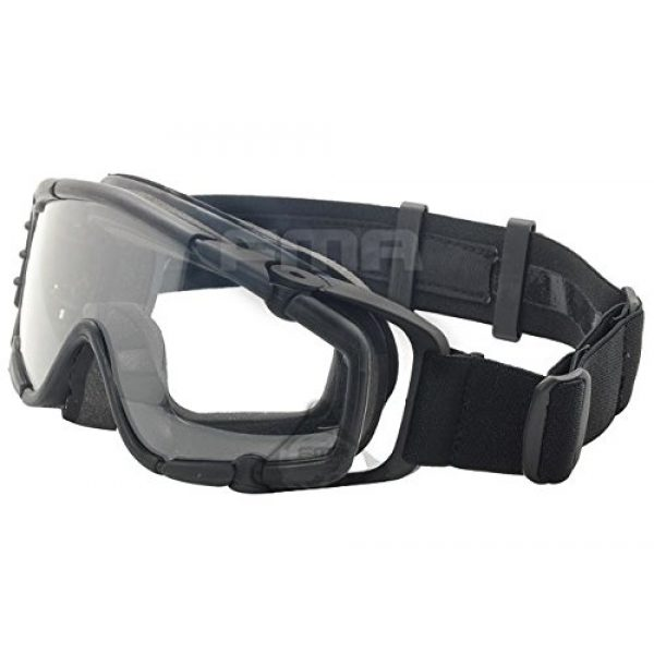 FMA Airsoft Goggle 1 AIRSOFT PAINTBALL OPS CORE JUMP FAN ANTI FOG CLEAR SI GOGGLES GLASSES BLACK SWAT