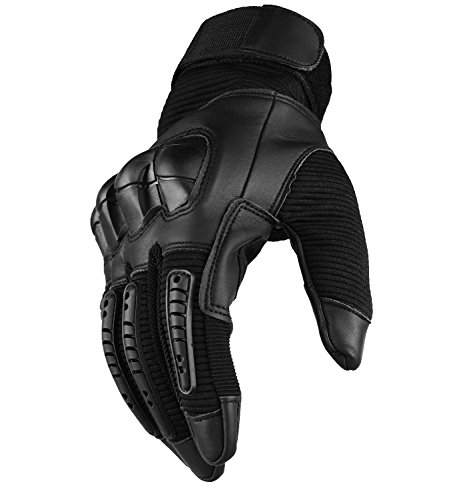 SHAWINGO Airsoft Glove 4 SHAWINGO Touch Screen Tactical Army Military Rubber Hard Knuckle Gloves for Motorcycle Cycling Hunting Airsoft Paintball Shooting