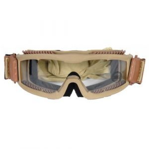 Velocity Airsoft Airsoft Goggle 1 Lancer Tactical CA-221T Clear Lens Vented Safety Airsoft Goggles (Desert Tan)