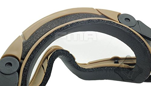 FMA Airsoft Goggle 5 FMA Airsoft Paintball OPS CORE Jump Helmet Rail Clear SI Goggles Glasses TAN Sand DE