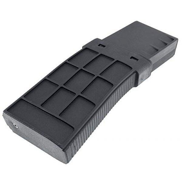 SportPro Airsoft Gun Magazine 7 SportPro CYMA 220 Round Polymer Thermold Waffle Medium Capacity Magazine for AEG M4 M16 Airsoft - Black