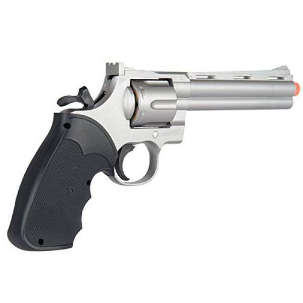UKARMS Airsoft Pistol 4 UKARMS Spring Airsoft Gun - 6 Shot 357 Magnum Revolver w/Shells + 6mm BBS (Silver)