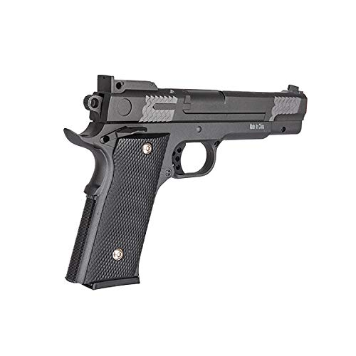 UKARMS Airsoft Pistol 4 UKARMS Galaxy G20H Full Metal M945 Airsoft Spring Hand Gun with Quick Release Holster
