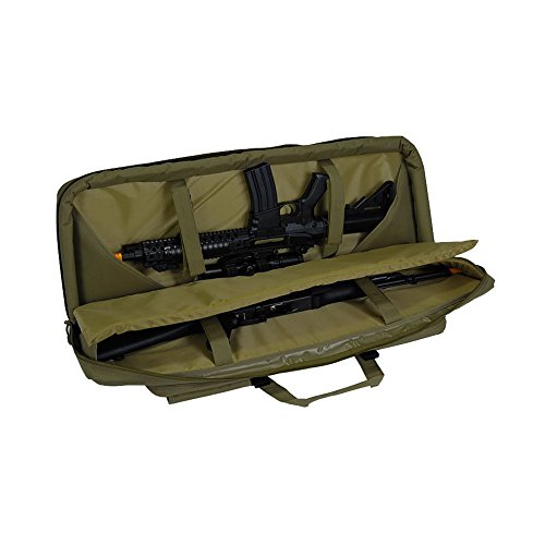 "Lancer Tactical Airsoft Gun Case 3 Lancer Tactical 36"" Padded Double Tactical Airsoft Bag w/Lockable Zipper CA-982"