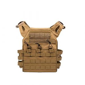 YaptheS Airsoft Tactical Vest 1 YaptheS Tactical Chest Vest Camouflage Airsoft Chest Protector Molle Vest Outdoor Sports Body Armor for Outdoor Activities Free Size