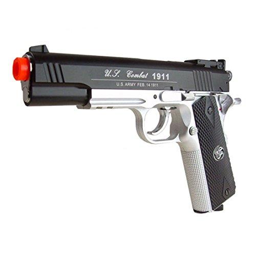 WG Airsoft Pistol 3 500 FPS NEW WG AIRSOFT FULL METAL M 1911 GAS CO2 HAND GUN PISTOL w/ 6mm BB BBs