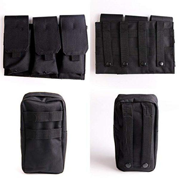 Solomone Cavalli Airsoft Tactical Vest 6 Solomone Cavalli Tactical Airsoft Vest Outdoor Ultra-Light Training Vest Adjustable for Adults 600D Black