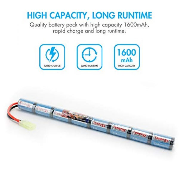 Tenergy Airsoft Battery 4 Tenergy 9.6V NiMH 1600mAh Stick Mini Battery Pack