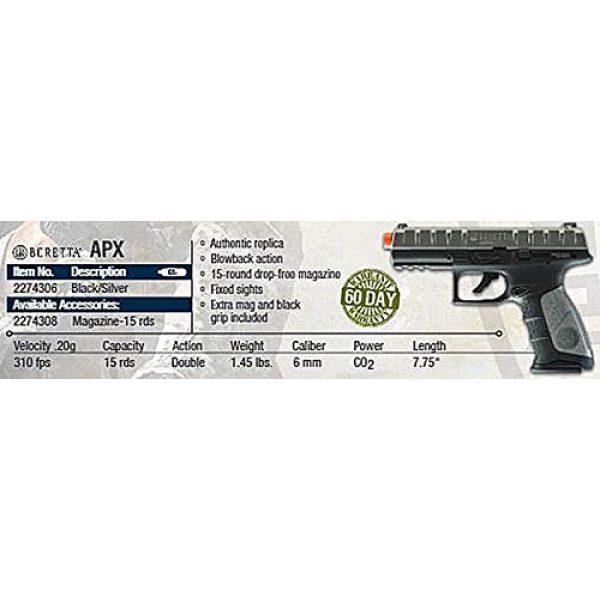 Umarex Airsoft Pistol 6 Umarex 2274306 USA, Beretta APX Blowback Co2 6mm Airsoft BB Pistol