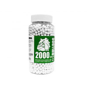BULLDOG AIRSOFT Airsoft BB 1 BULLDOG AIRSOFT Biodegradable 6MM BB Pellets 0.28G 2000 White