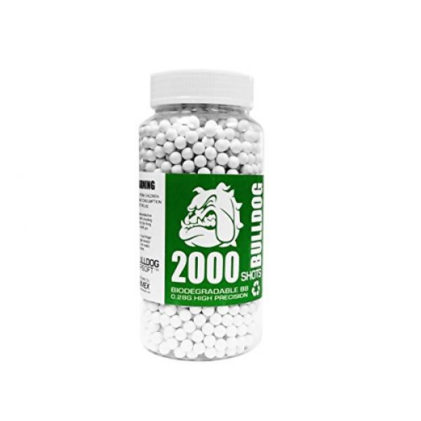 BULLDOG AIRSOFT Airsoft BB 1 BULLDOG AIRSOFT Biodegradable 6MM BB Pellets 0.28G 2000 White